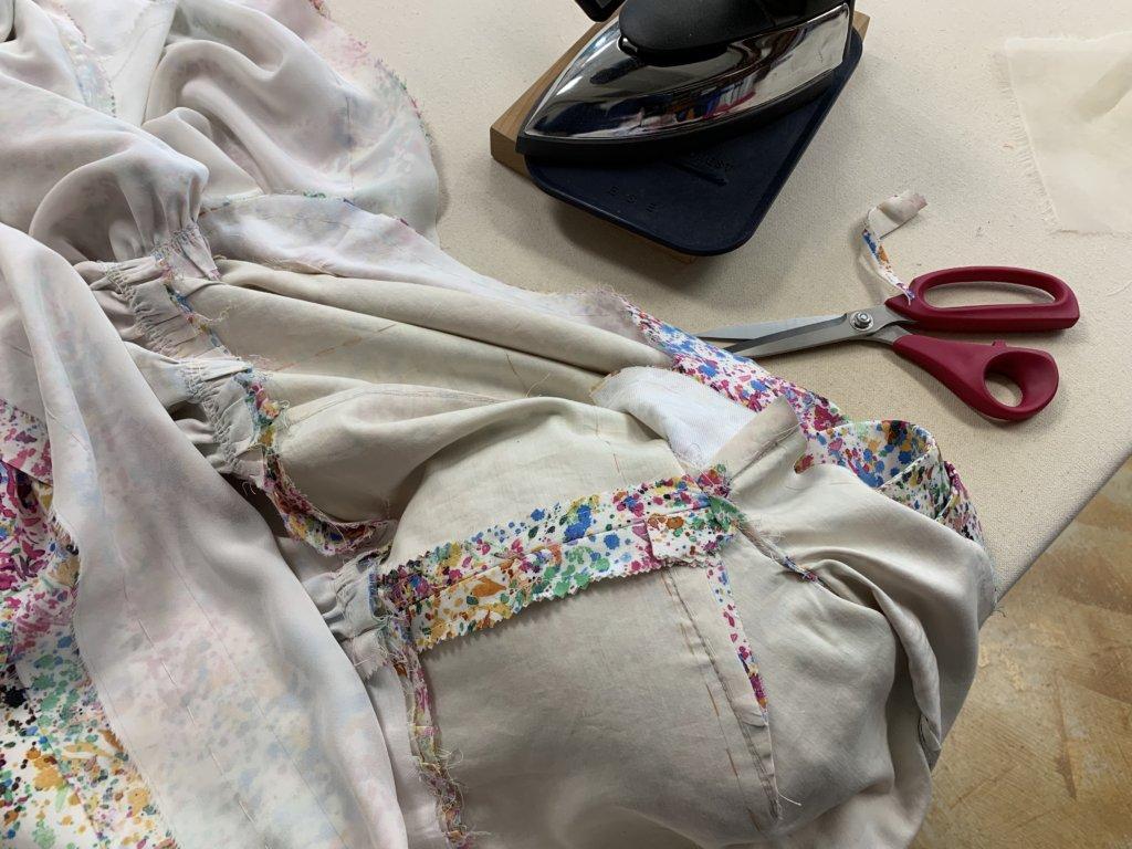 Pressing and pinking seams