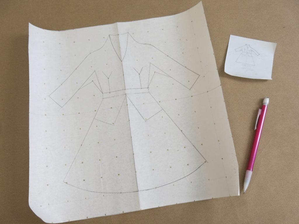 The first neckline design
