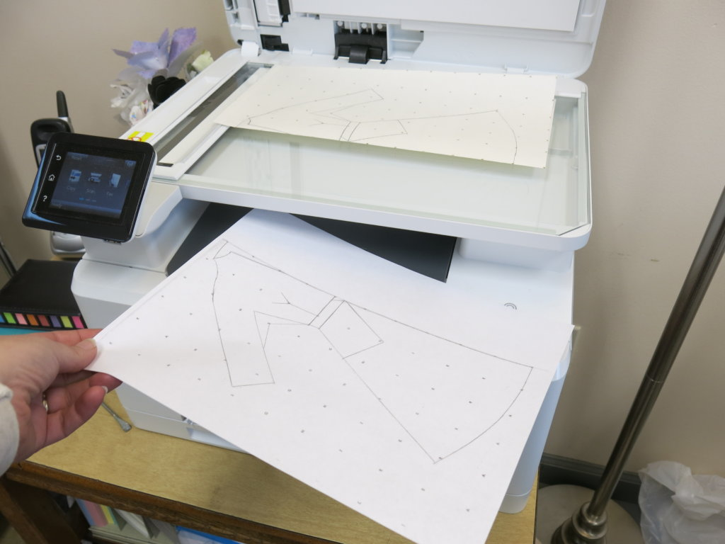 Making a copy with a copy machine