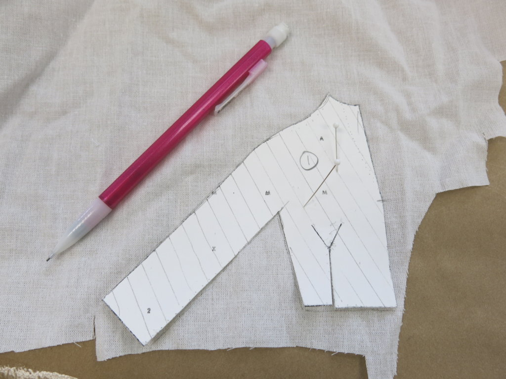 Template tracing on fusible interfacing