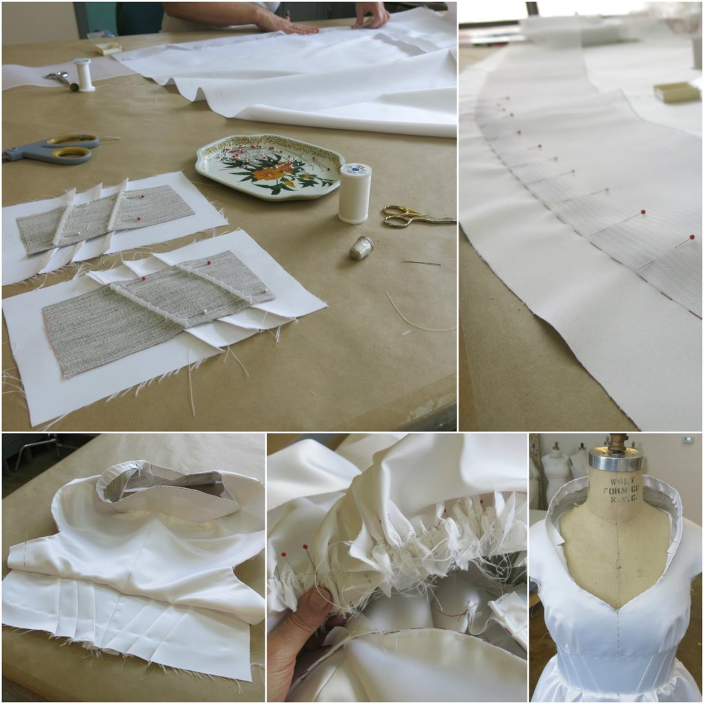Making Tiffany's First Mockup by Brooks Ann Camper Bridal Couture