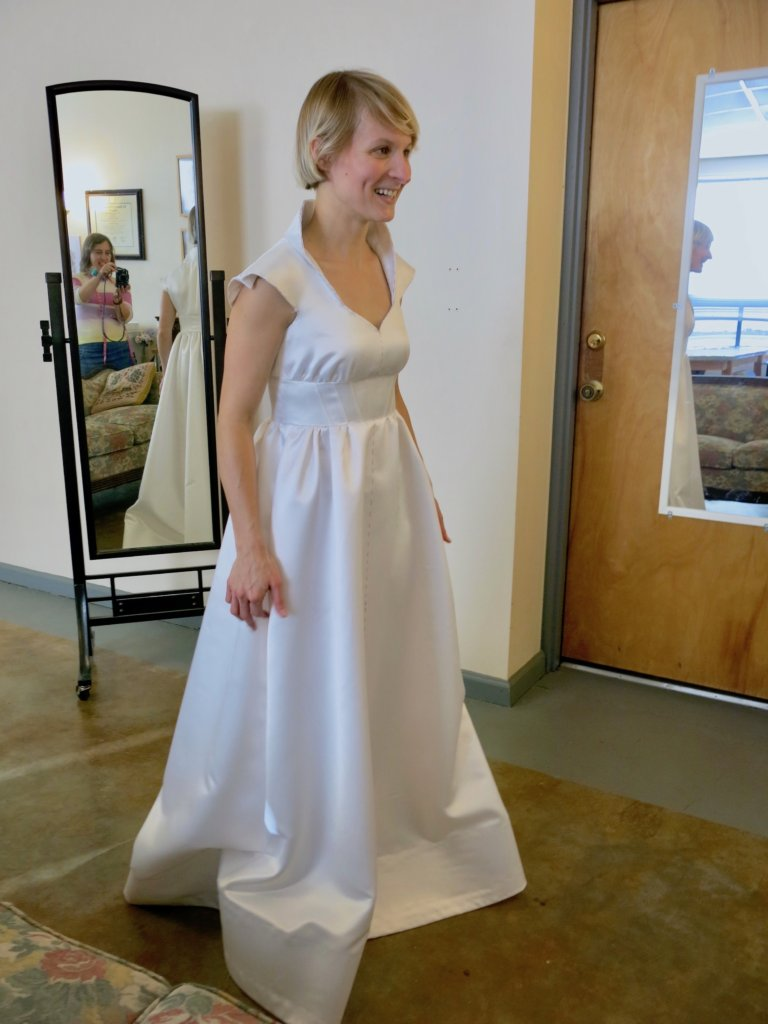 Tiffany's First Mockup Fitting (and Pattern Corrections)! by Brooks Ann Camper Bridal Couture