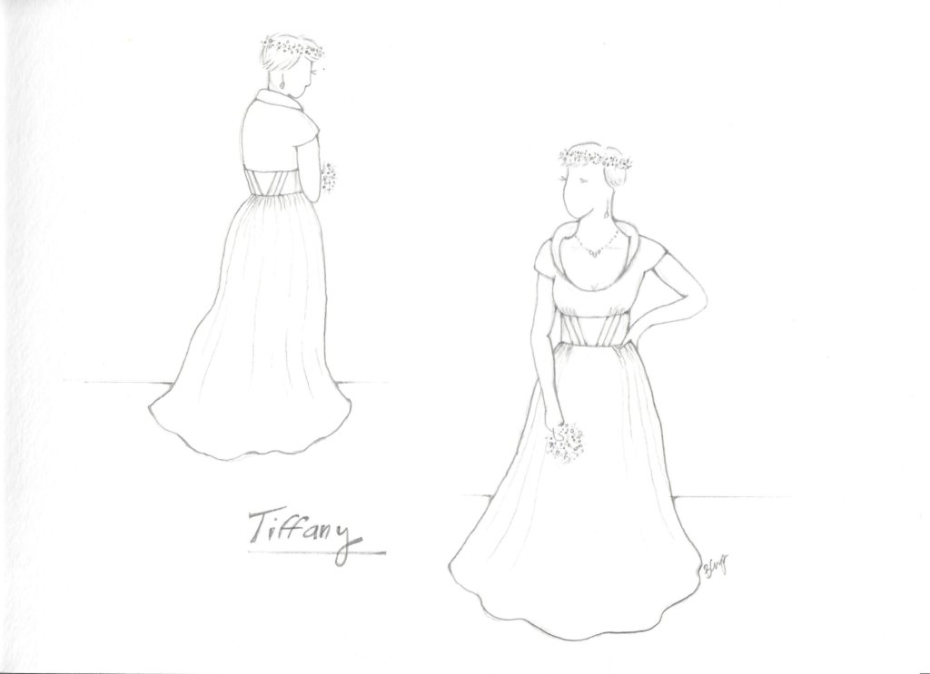 Déjà Vu: Tiffany's Mockup Dress #2! by Brooks Ann Camper Bridal Couture