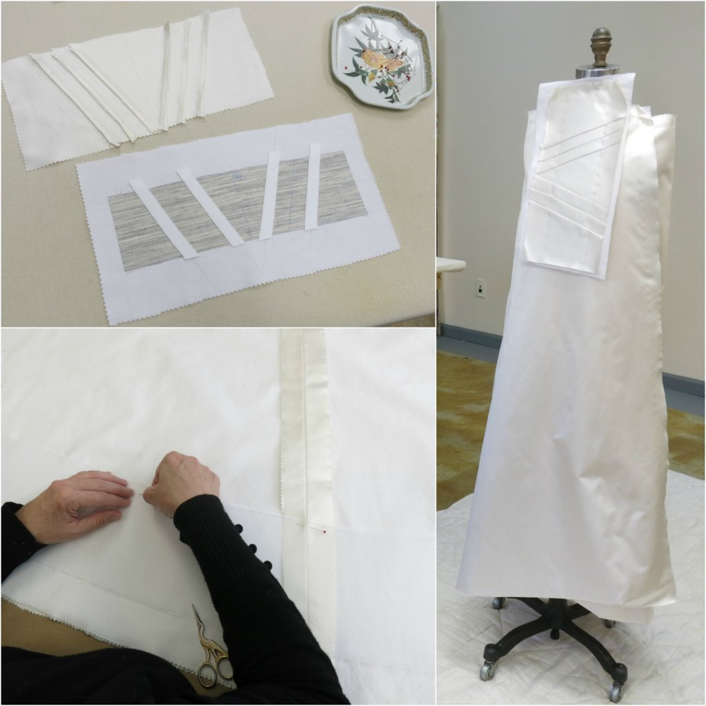 Constructing Tiffany's Wedding Dress: Skirt & Midriff by Brooks Ann Camper Bridal Couture